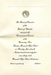 Invitation to Commencement