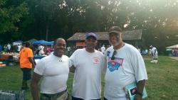 Robert Curry (class of '65), Ted Mavritte (center) and Calvin Snowden (class of '65)