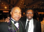 Leroy Owens and John Lewis at the 2014 Omega Mardi Gras Ball